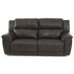 Klaussner Grand Power Reclining Sofa Brown Leather Bed Gumtree Albus Two Seat With