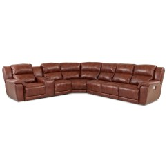4 Piece Recliner Sectional Sofa Living Room Bench Klaussner Albus Four Power Reclining