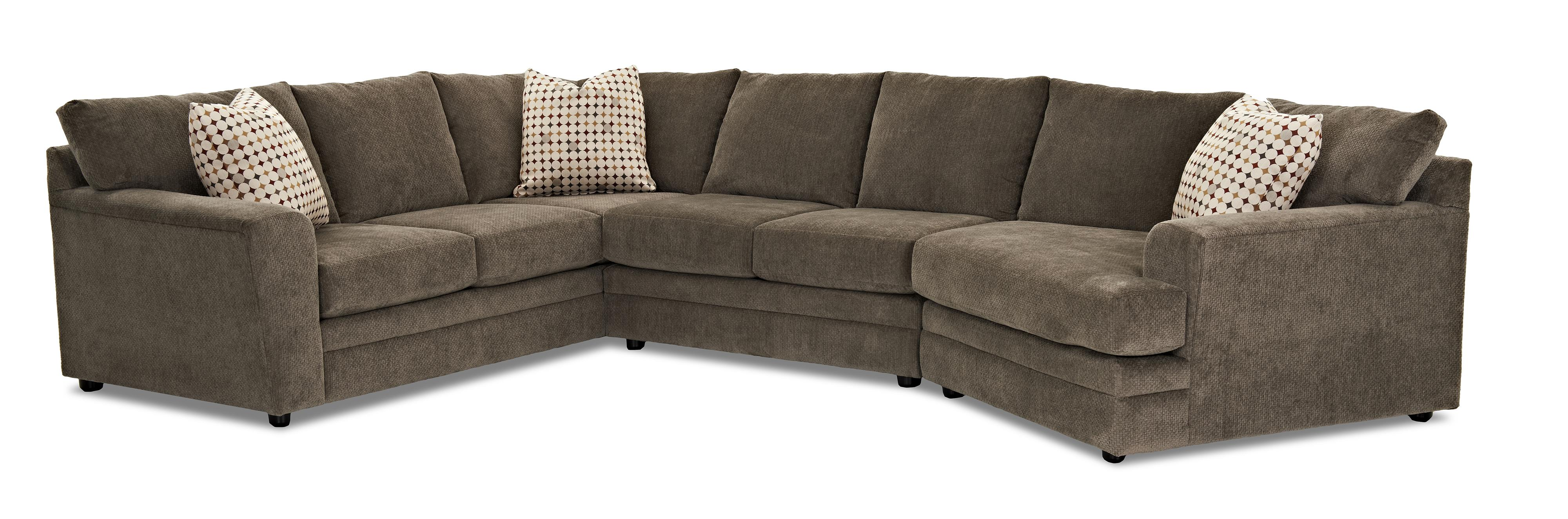 klaussner sofa and loveseat set floral loveseats sofas ashburn casual sectional group olinde 39s