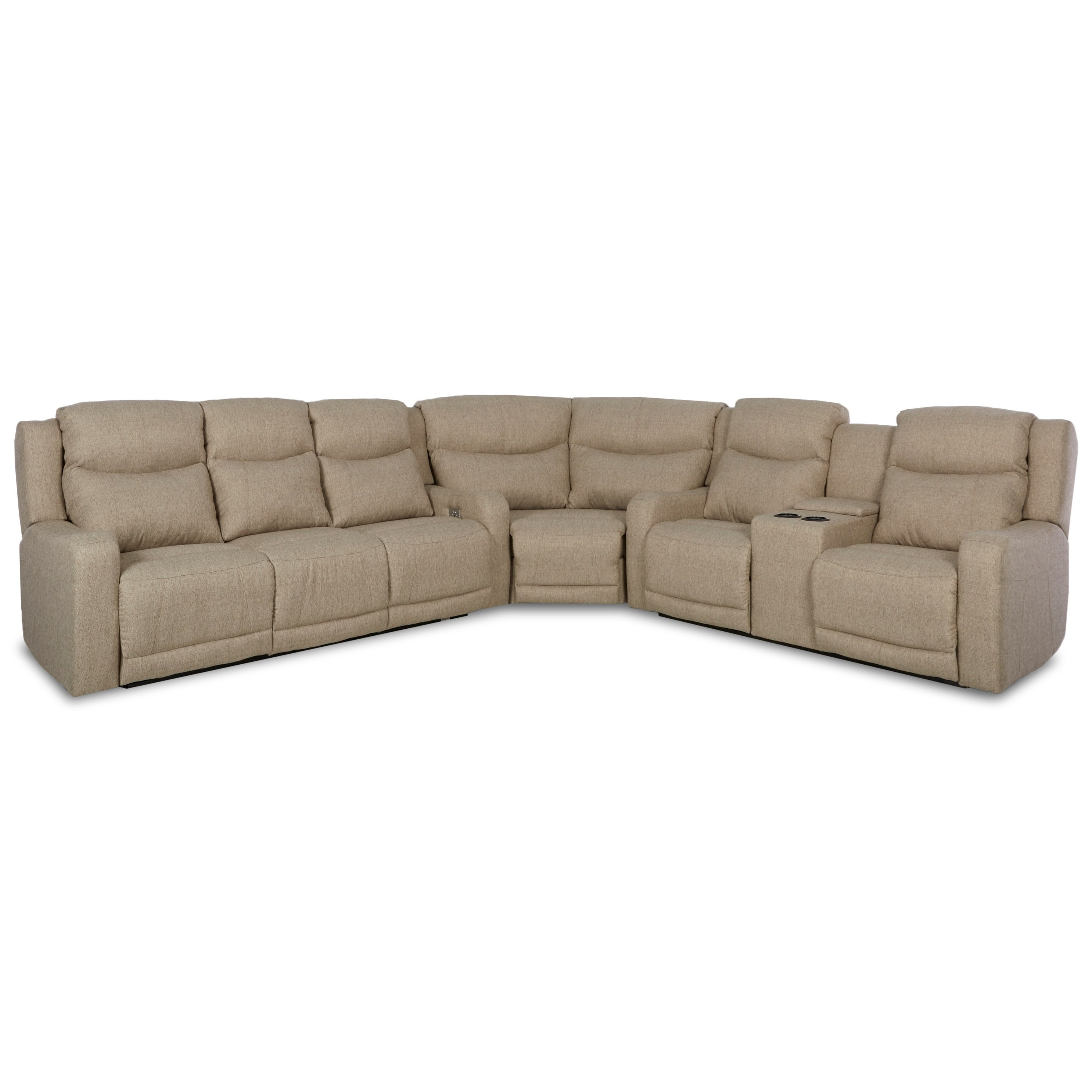 3 pc sectional sofa with recliners what is a loveseat klaussner barnett three power reclining