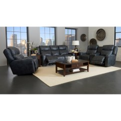 Crescent Power Sofa Recliner With Headrest Bed Under Storage Klaussner Barnett Reclining