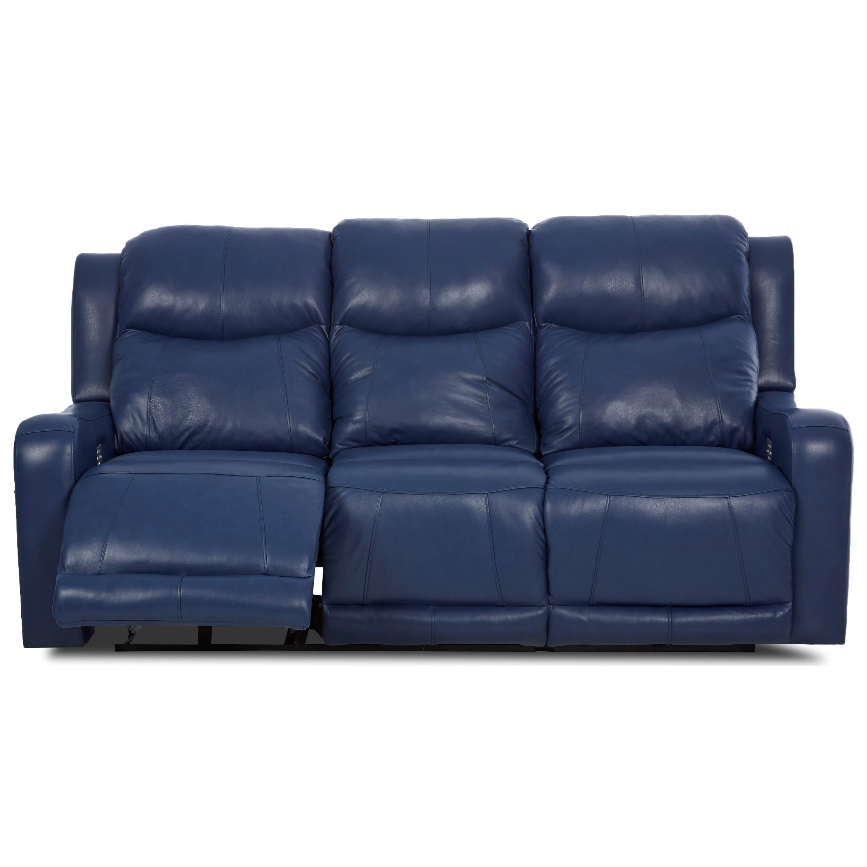 klaussner grand power reclining sofa theatre seating sofas barnett with headrest