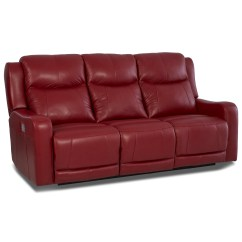 Two Cushion Power Reclining Sofa Fabric Corner With Removable Covers Klaussner Barnett Lv74803 6 Pwrs