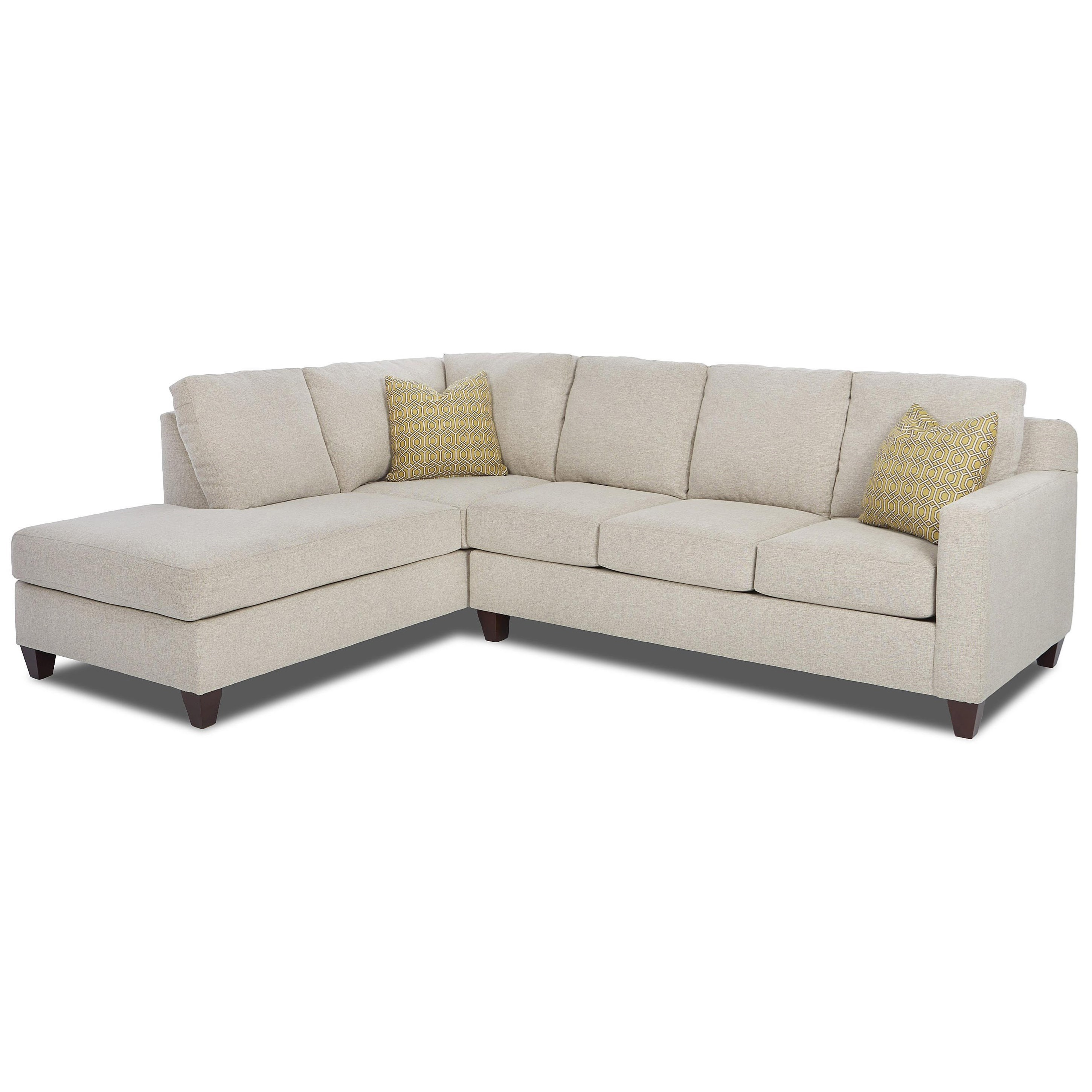 left arm sofa sectional cinas bord klaussner bosco contemporary 2 piece with