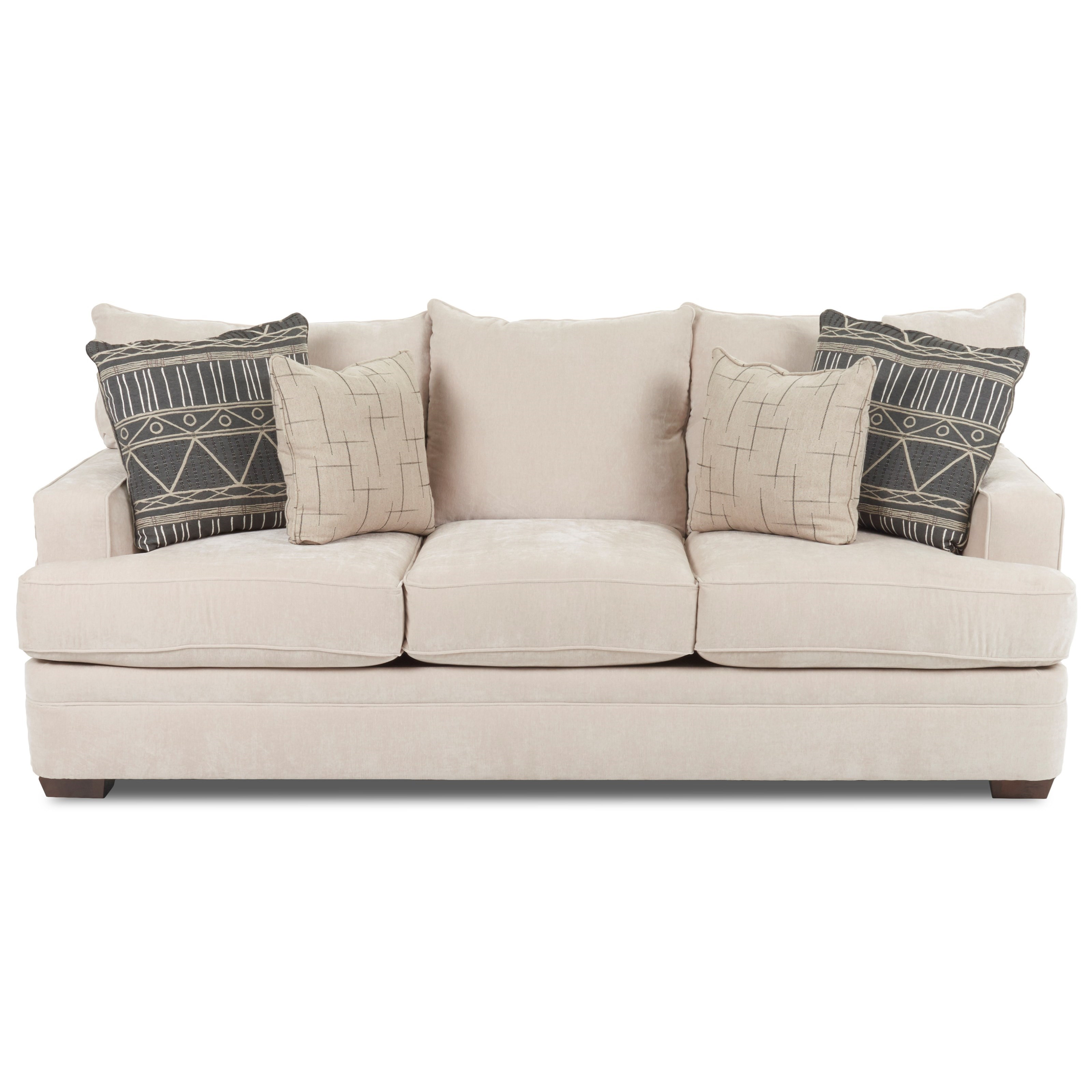 chadwick sofa leather air review casual with square track arms morris home