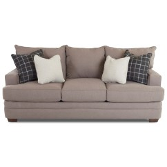 Chadwick Sofa Cream Leather Cheap Klaussner Casual With Square Track Arms