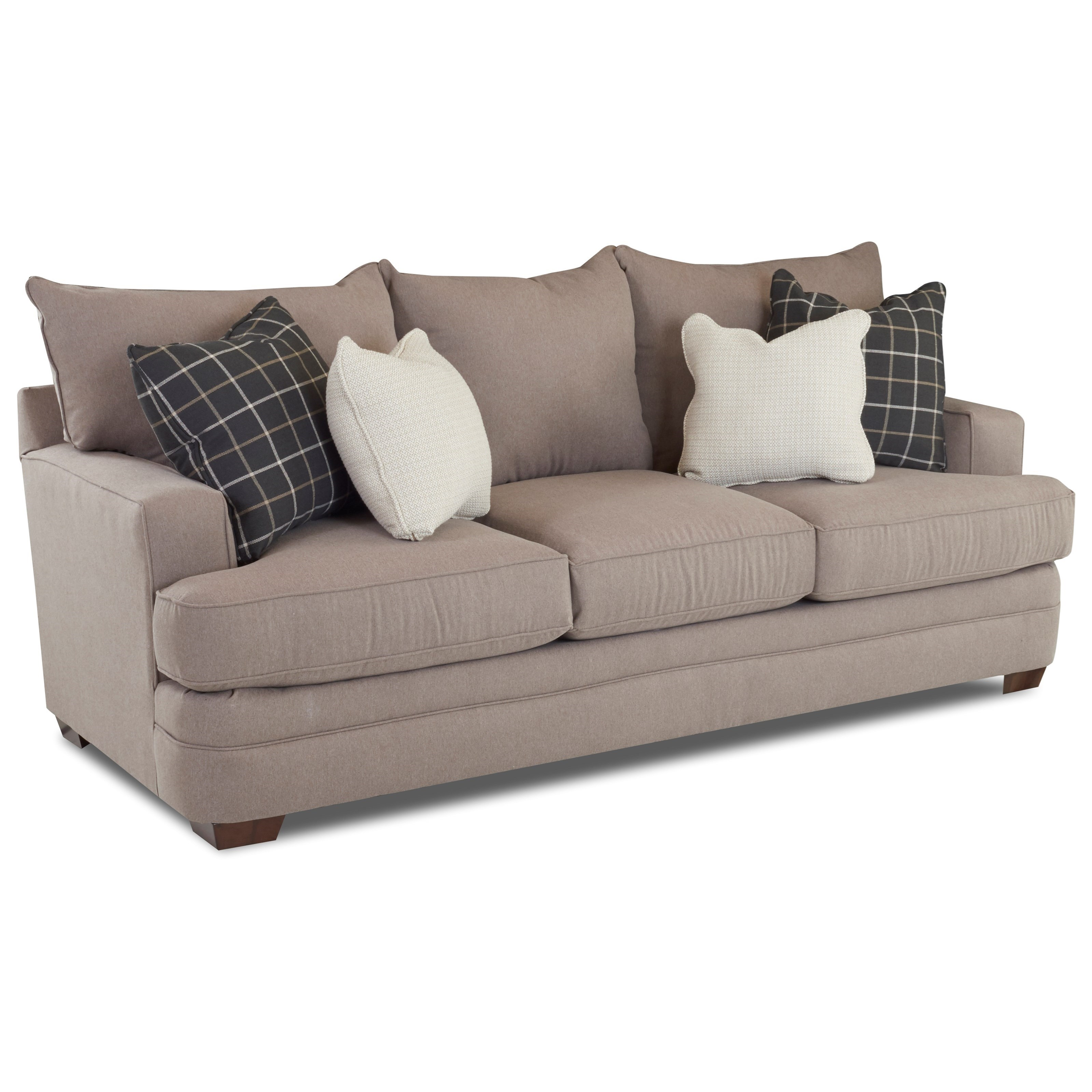 chadwick sofa chesterfield pull out bed klaussner casual with square track arms