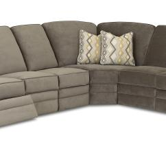 Klaussner Grand Power Reclining Sofa Tufted Leather Bed Chapman Casual Sectional