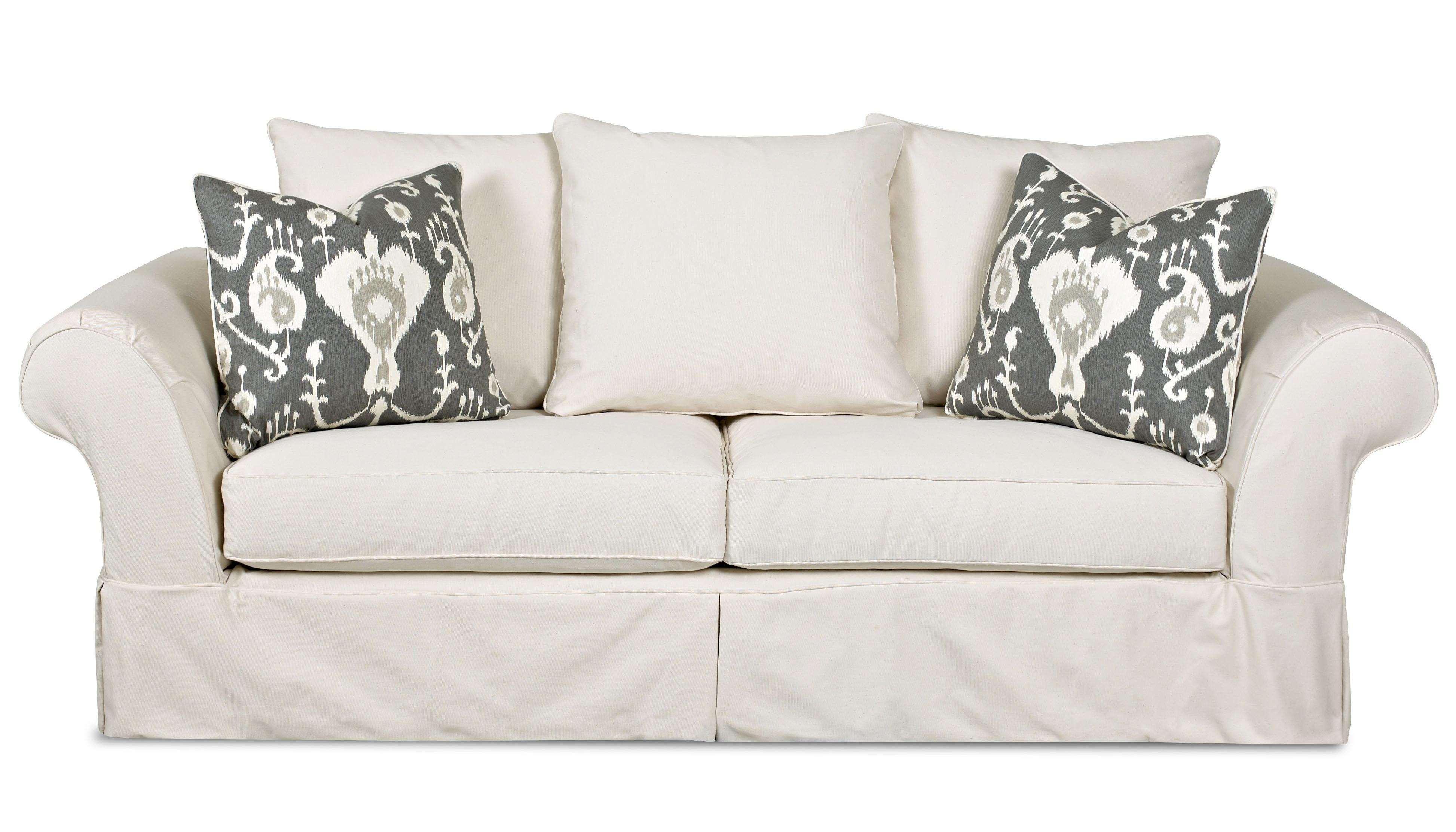 sofa deals nj oatmeal klaussner charleston with scatterback pillows and