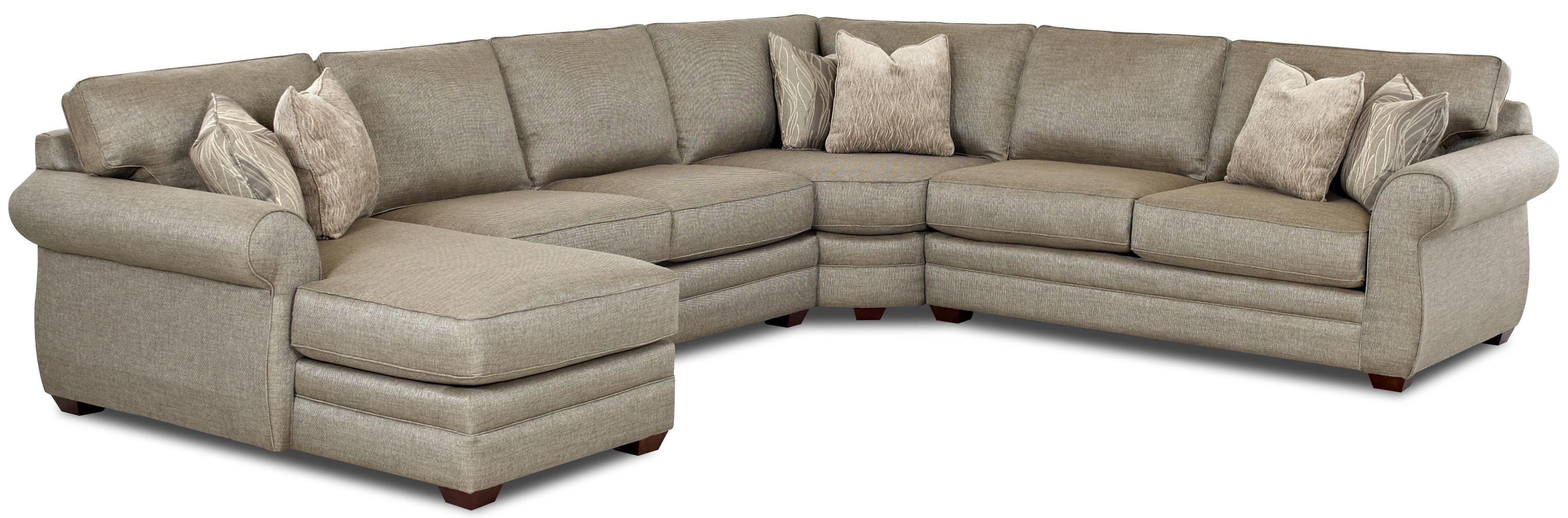transitional style sectional sofas queen size sofa beds melbourne klaussner clanton with left