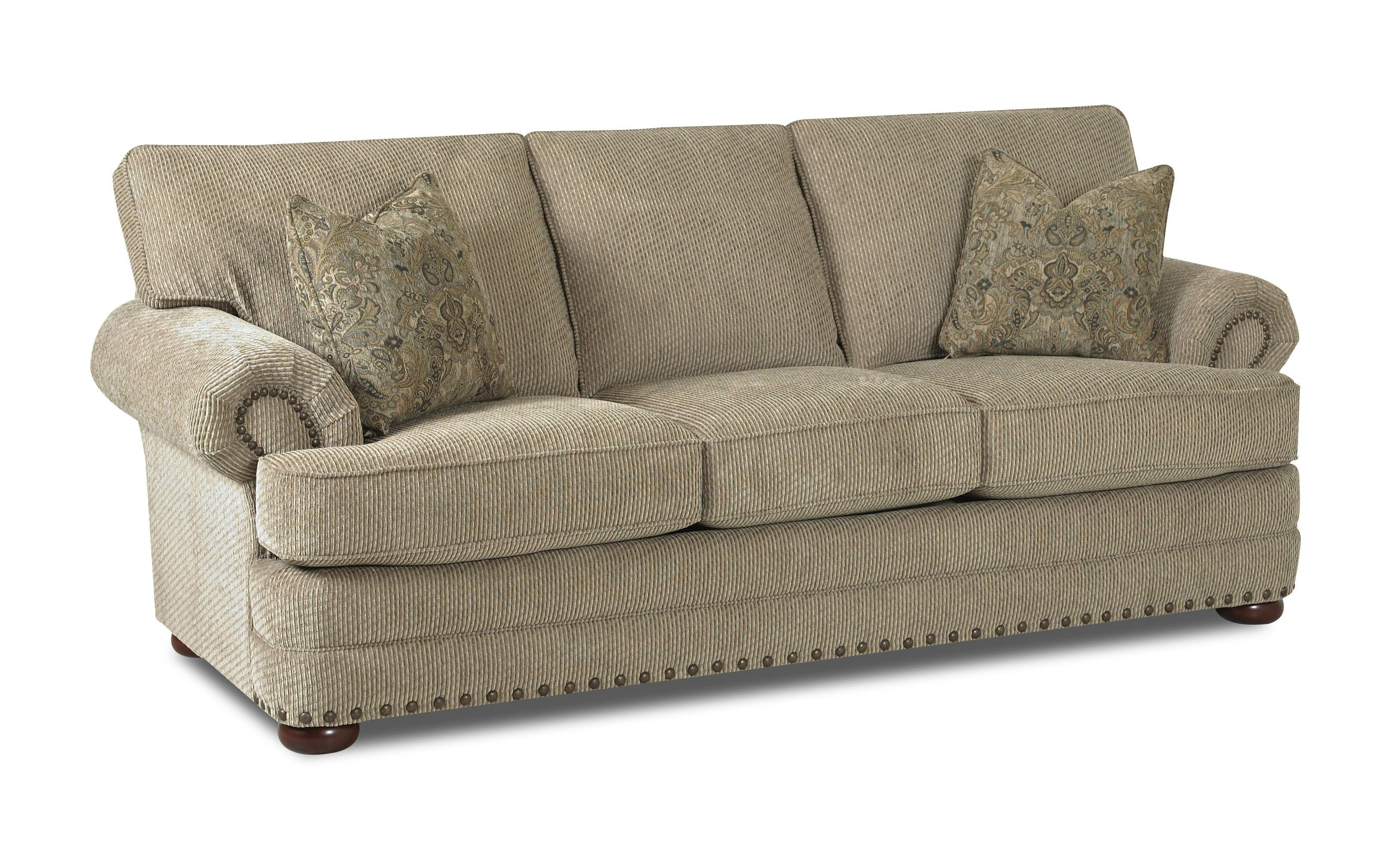 sofa accessories names 3 seater fabric klaussner cliffside ok30200 s traditional styled with