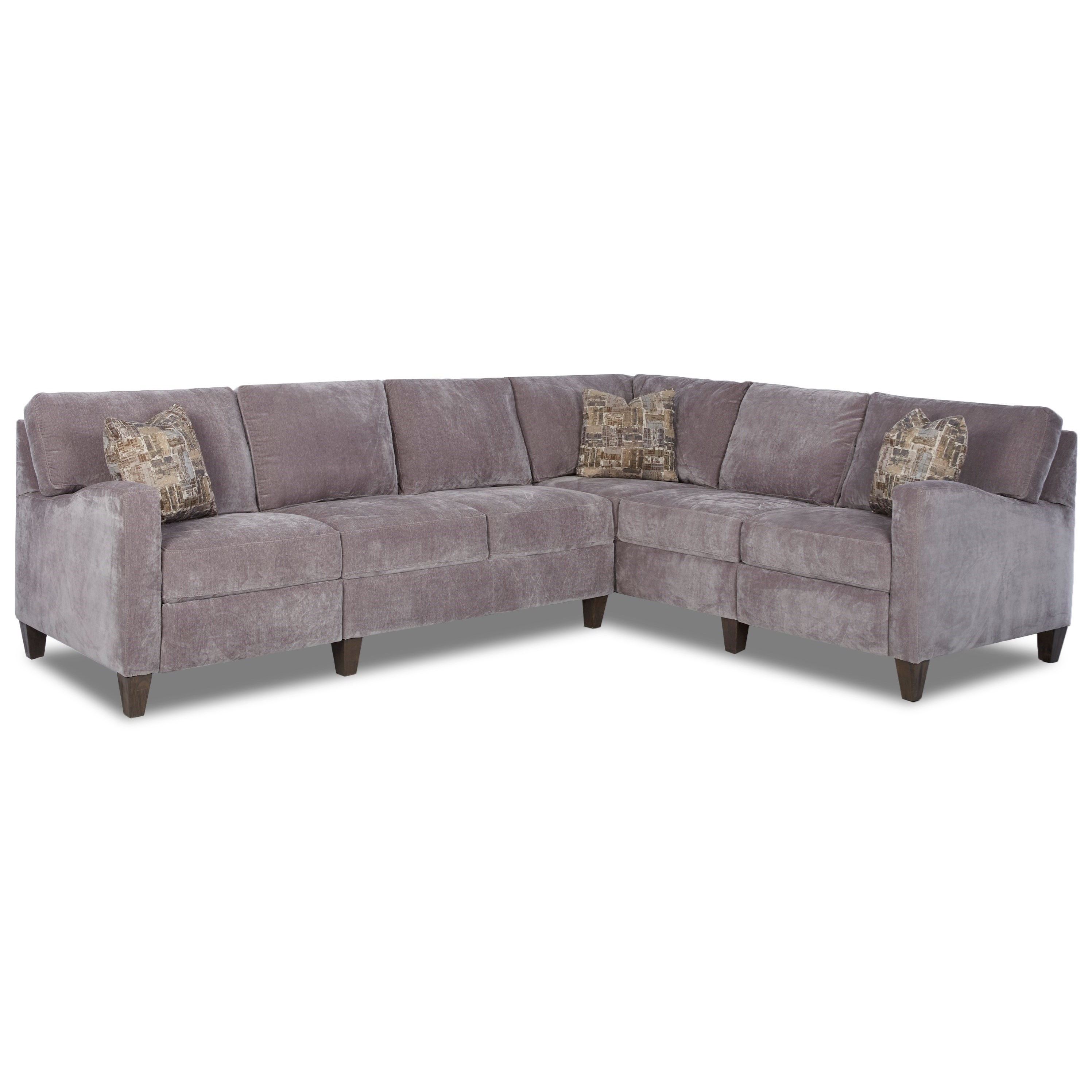 klaussner grand power reclining sofa bari corner storage bed colleen hybrid sectional with raf