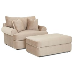 Oversized Chair And Ottoman Set Pads For Kitchen Chairs Klaussner Cora Casual