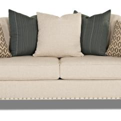 White Leather Sofa With Nailheads Capri Collection Nailhead Sofas Top Grain Thesofa