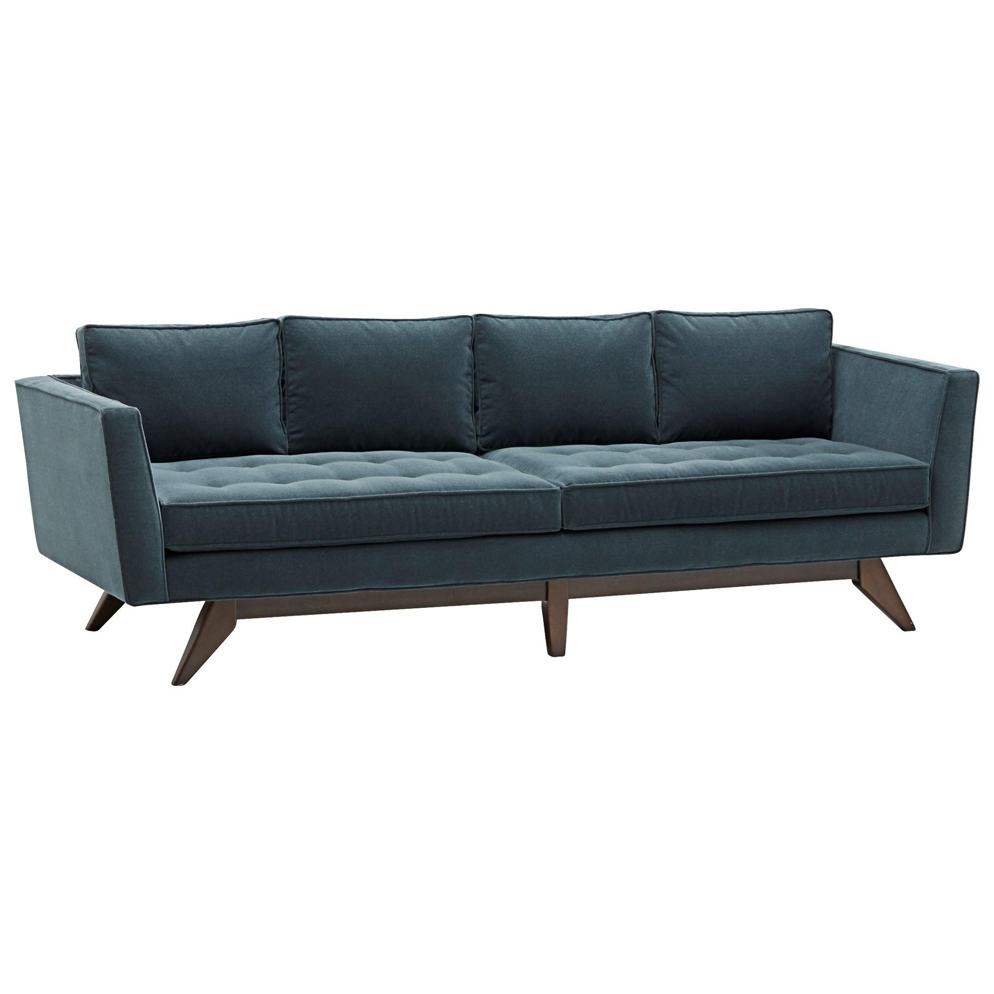 angled sofa legs window design klaussner fairfax mid century modern style with
