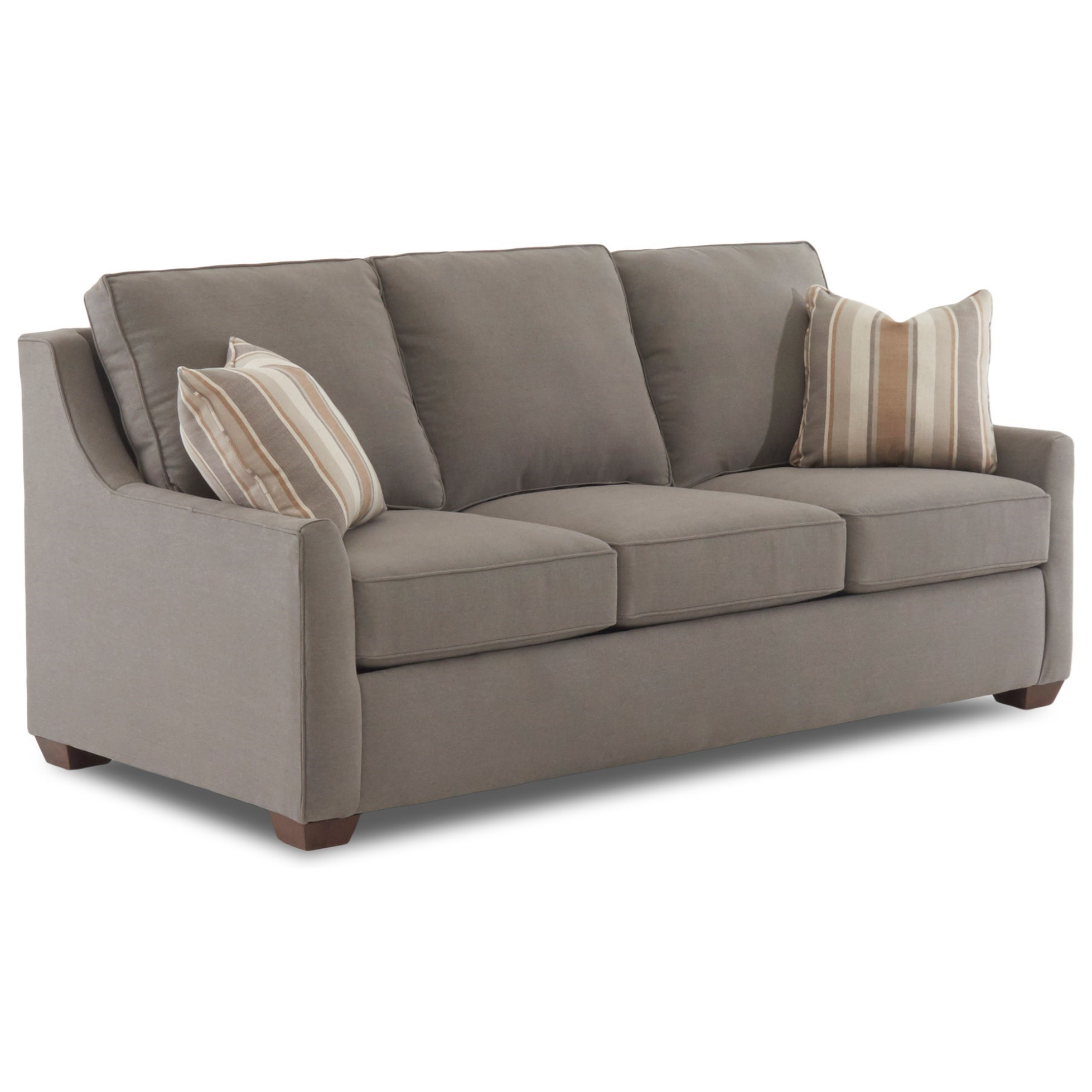 max coil sofa bed loveseat sleeper crate and barrel klaussner fulton contemporary 80 quot with air