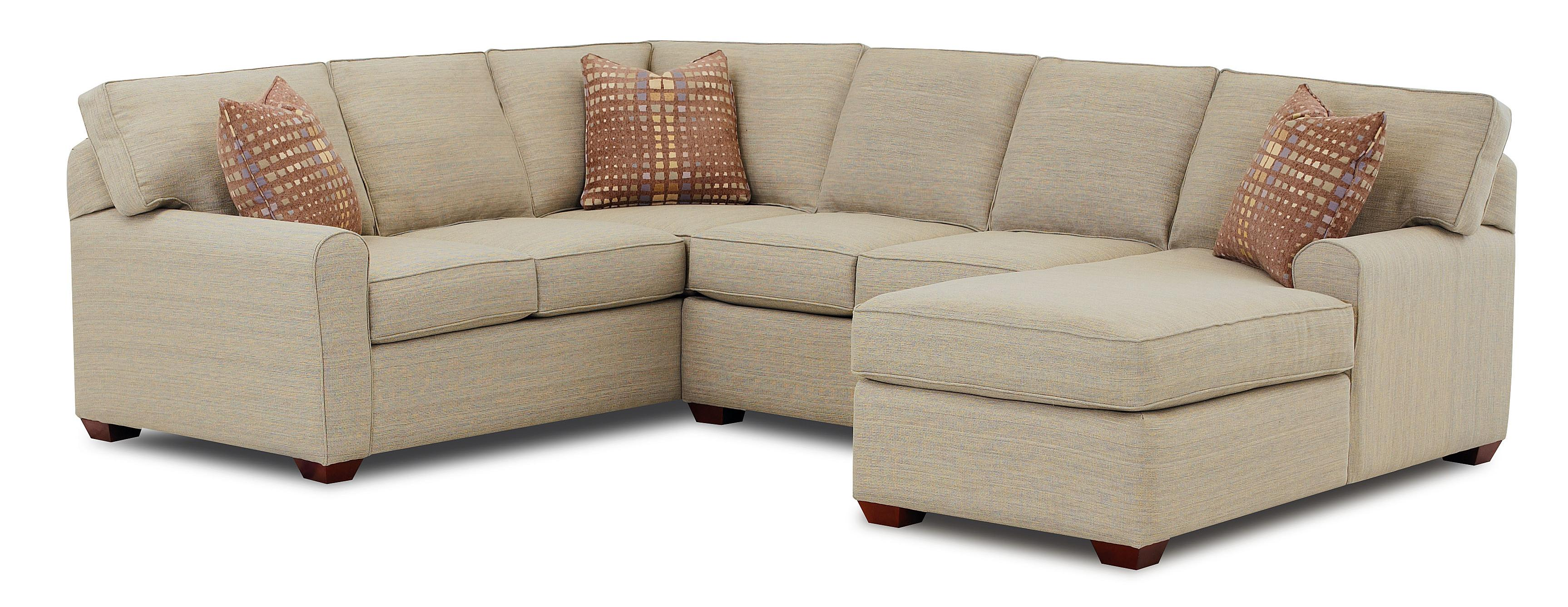 sofa chase small brown leather bed klaussner hybrid sectional with right facing chaise