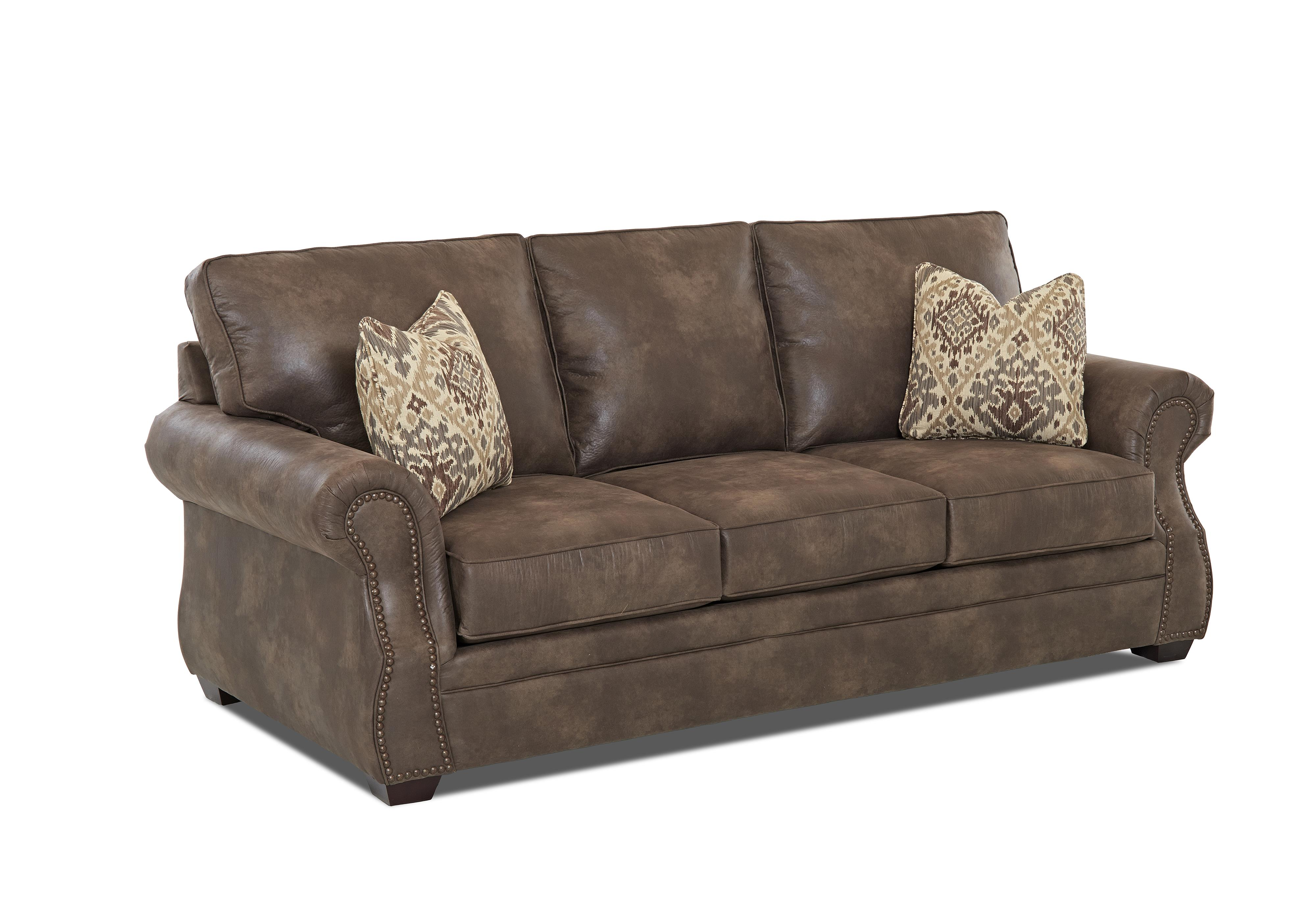 traditional sofa sleeper accent pillows for black leather klaussner jasper queen inner spring