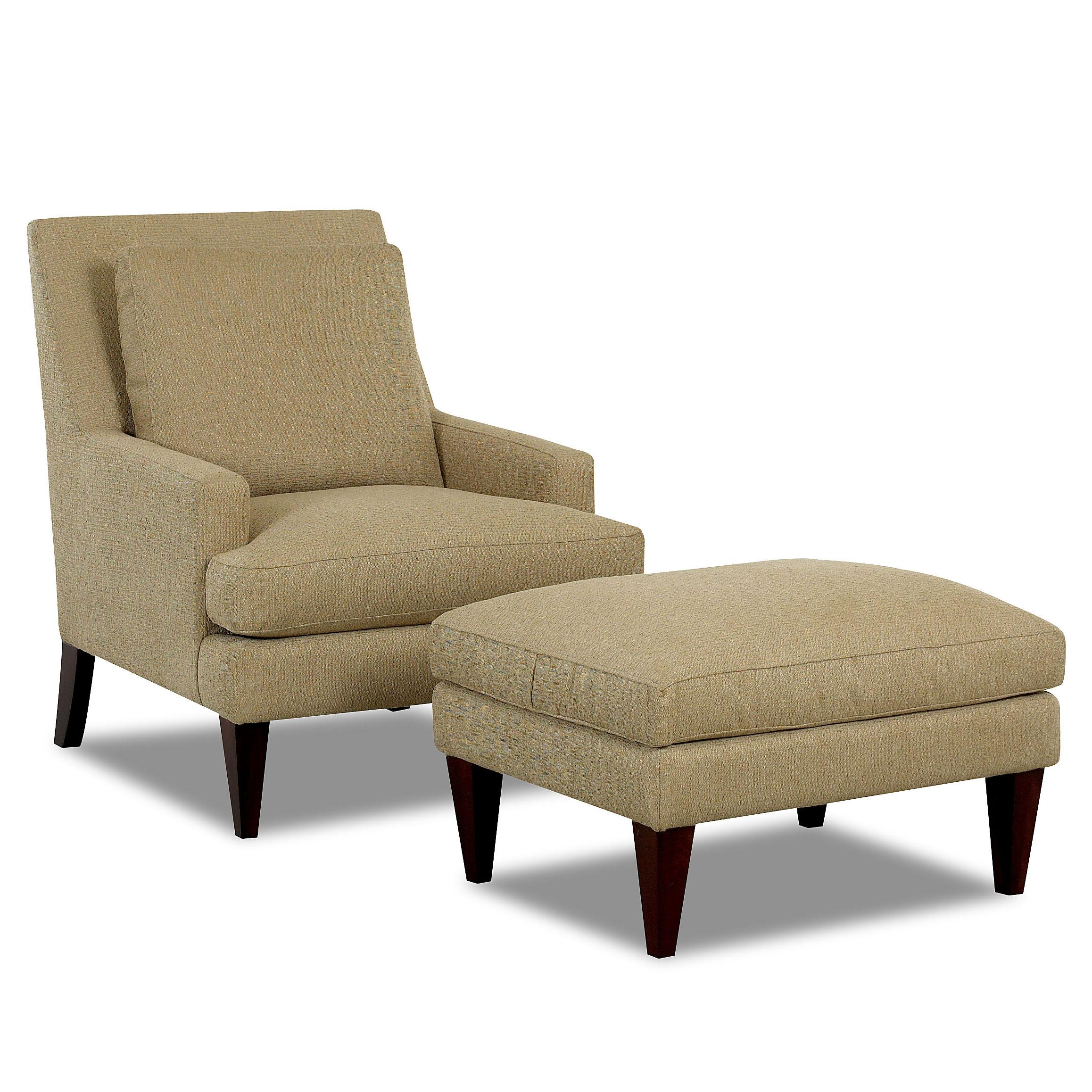 Chair And Ottoman Klaussner Chairs And Accents Townsend Accent Chair And