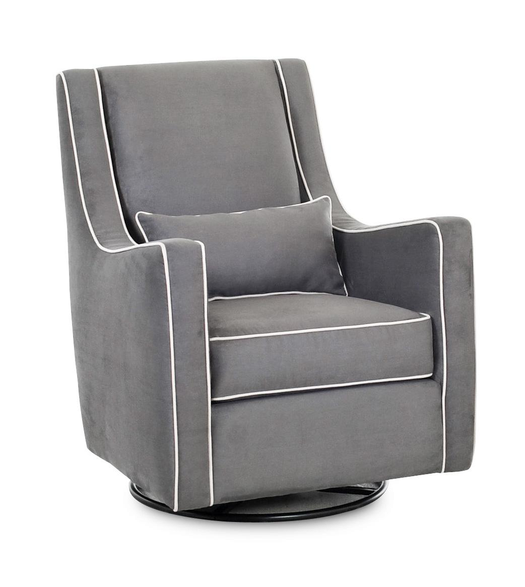 Upholstered Glider Chair Klaussner Chairs And Accents Contemporary Lacey Swivel