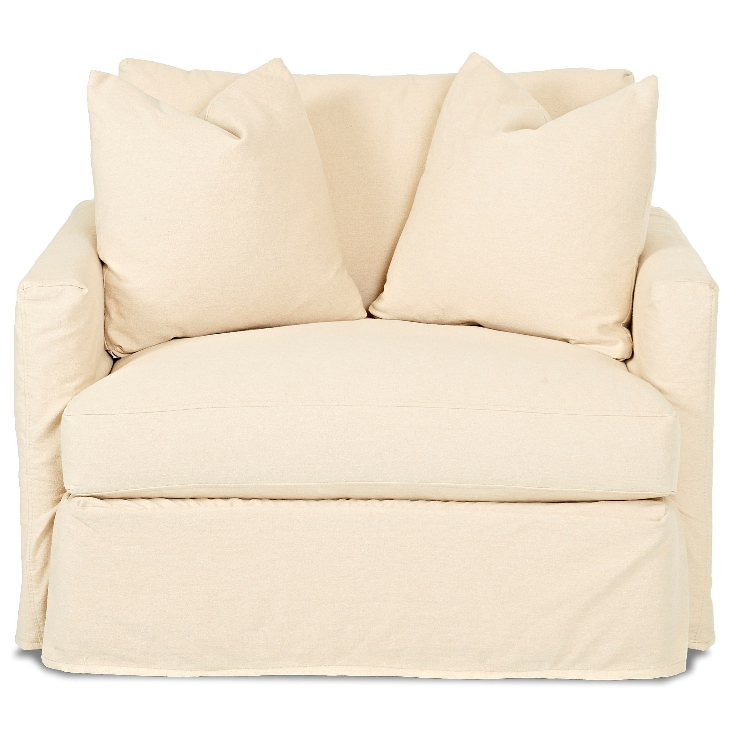 slipcover for chair and a half metal wood klaussner leisure with value city