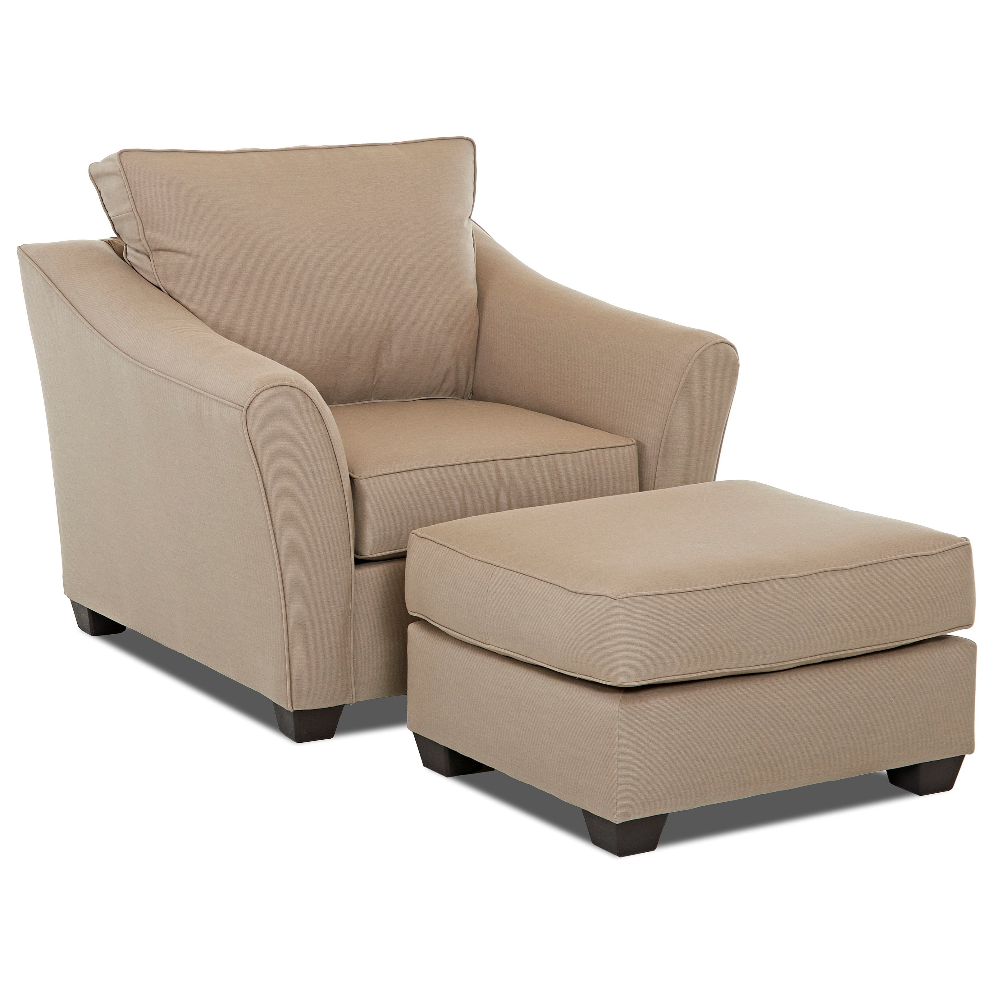 Value City Chairs Klaussner Linville Contemporary Chair And Ottoman Set