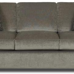 Klaussner Loomis Sectional Sofa Sisi Italia Lucca Leather Contemporary With Track Arms