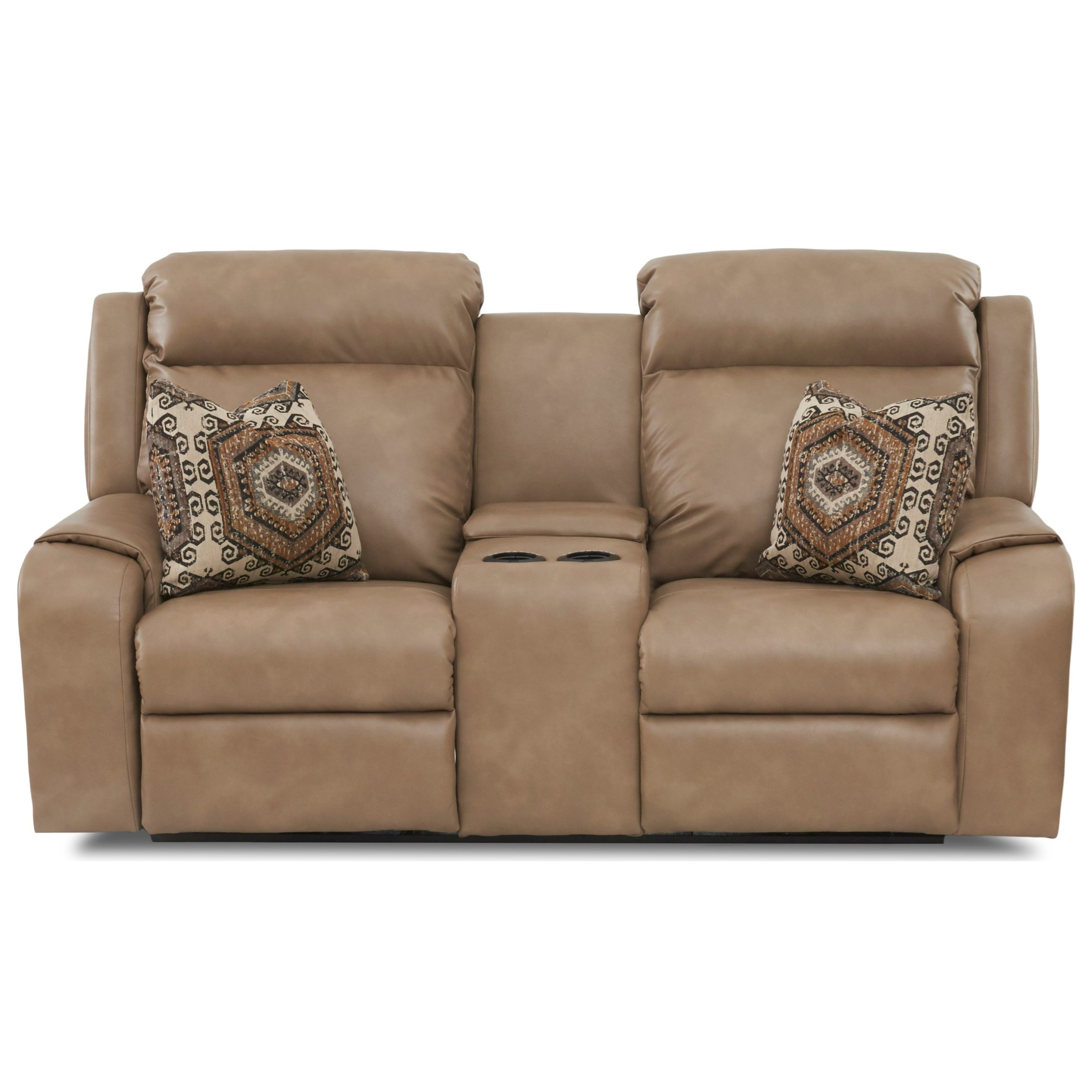pomona sofa the most comfortable klaussner merlin power console reclining loveseat with