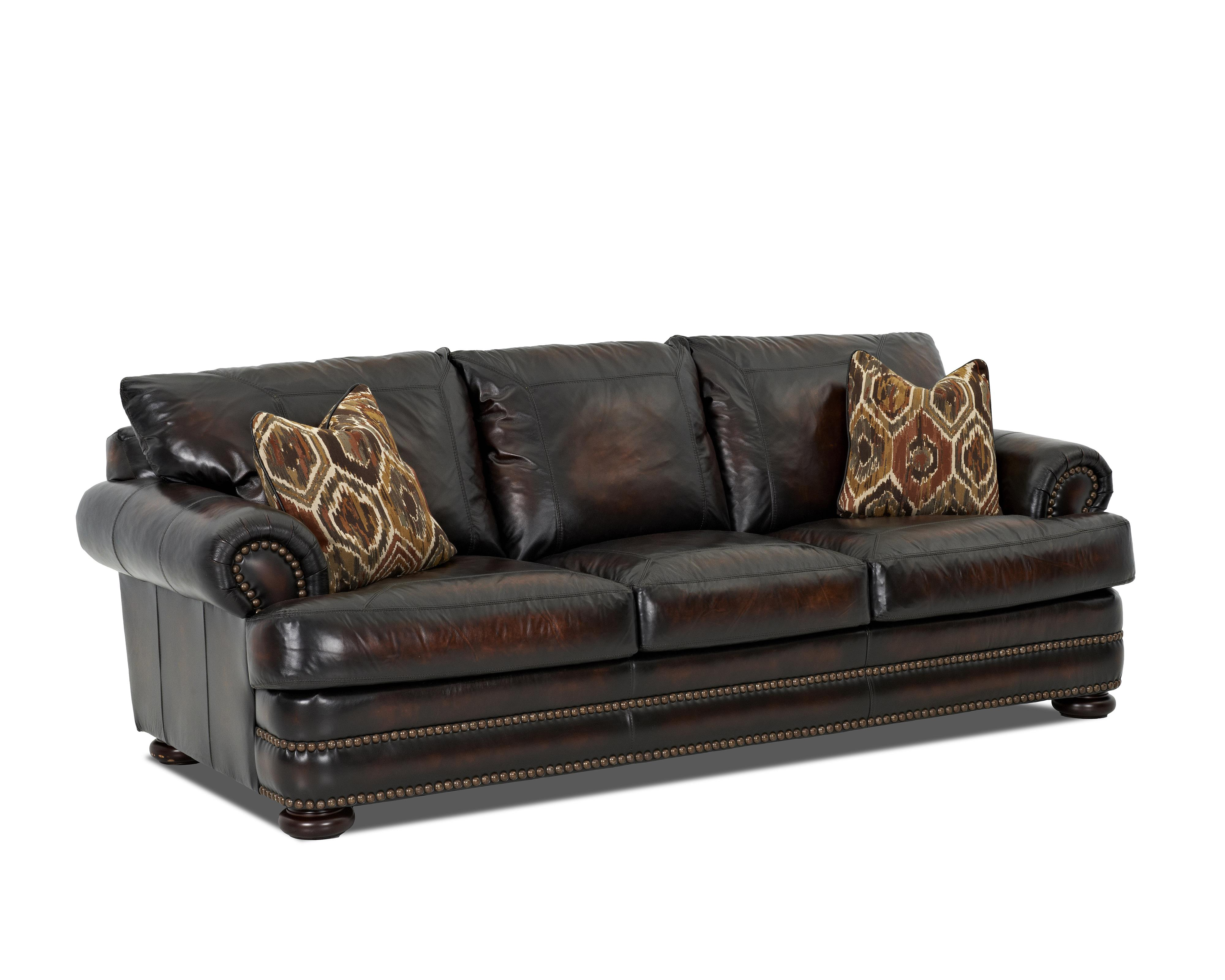 klaussner sofa and loveseat set bellanest leather montezuma with rolled arms value