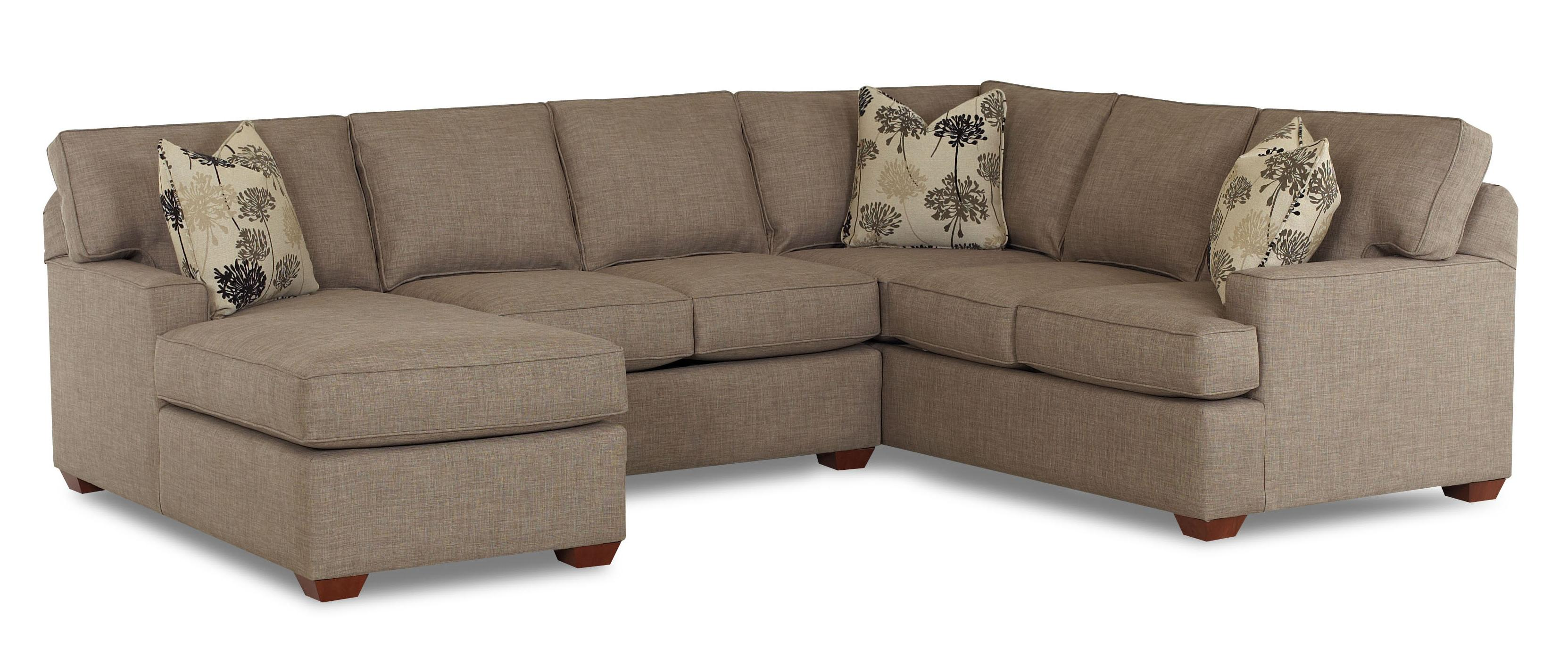 3 piece microfiber sectional sofa with chaise and loveseat set klaussner pantego laf