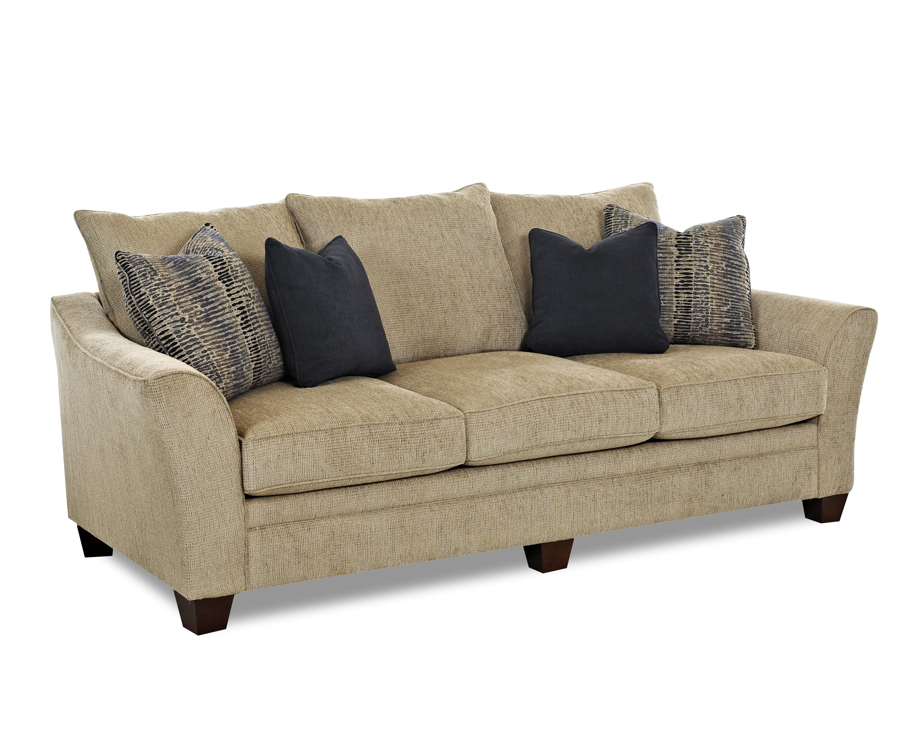 klaussner sofa and loveseat set bed cheap canada posen contemporary with block feet olinde