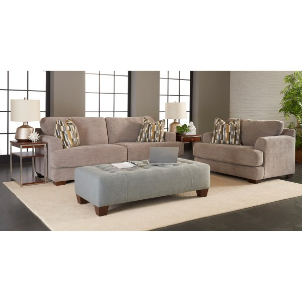 Klaussner Remi K29400 Two Cushion Sofa With Deep Seats