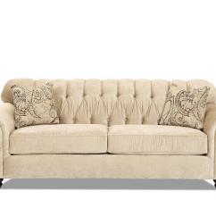 Emma Tufted Sofa Black Leather Recliner Furniture Village Klausner Klaussner Home Furnishings Asheboro Nc Thesofa