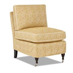Slipcover For Armless Chair Two Tone Walls With Rail Klaussner Trixie Traditional Accent