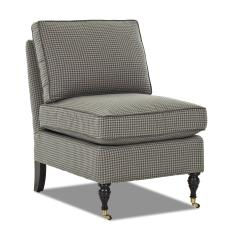 Side Chairs With Casters Star Trek Captain S Chair Plans Klaussner Trixie Traditional Armless Accent