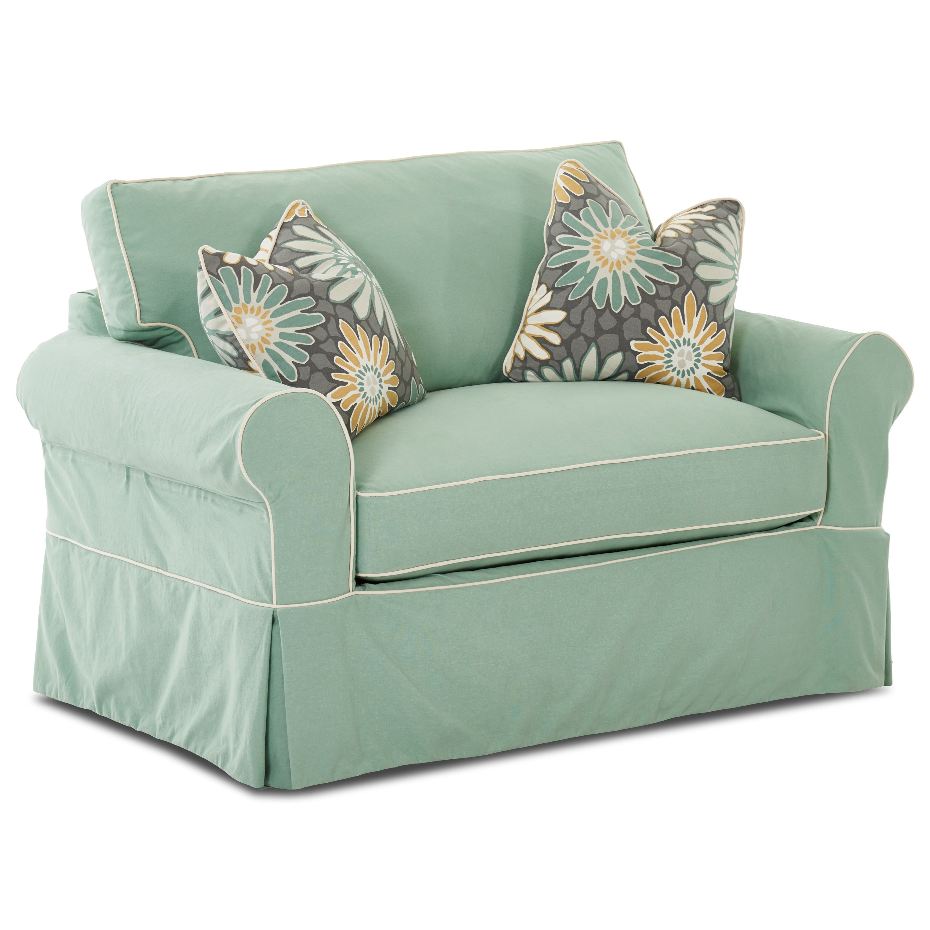axis ii slipcovered twin sleeper sofa ashley furniture darcy reviews victoria chair with slipcover