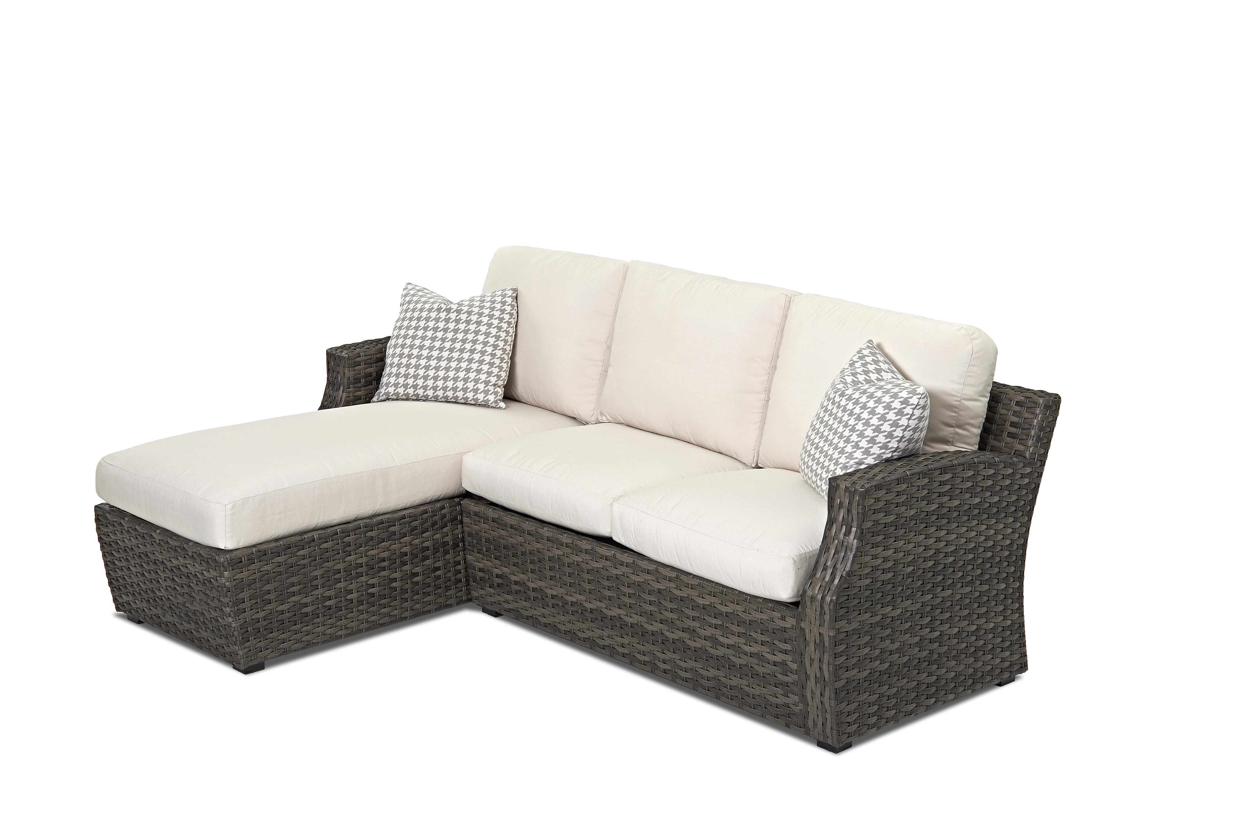 outdoor chaise lounge chair with ottoman foldable indoor klaussner cascade sectional sofa