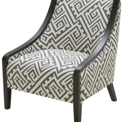 Traditional Accent Chairs Upholstered Swivel Rocking Chair Kuka Home A 825 With Exposed Wood