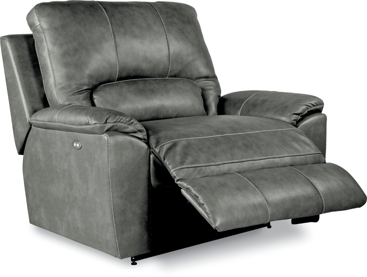 black leather chair and a half foldable office uk la z boy charger power time