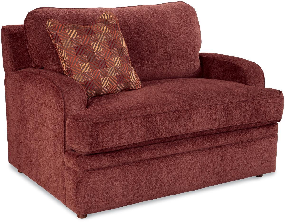 la z boy diana sleeper sofa divani casa 6123 modern white and black leather sectional transitional supreme comfort twin sleep