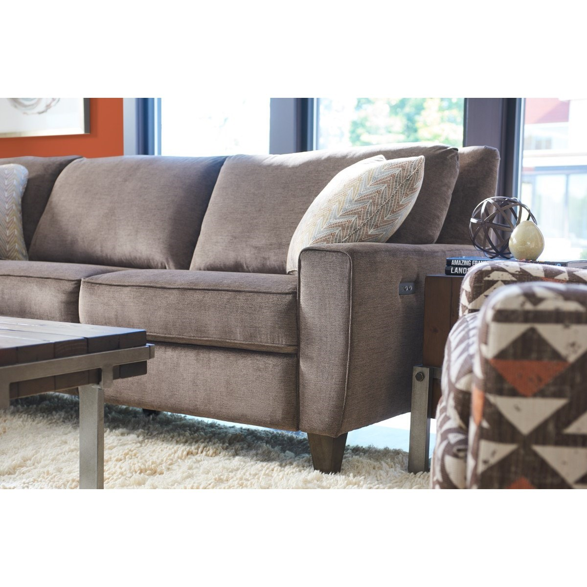 4 piece recliner sectional sofa black room ideas la z boy edie four power reclining