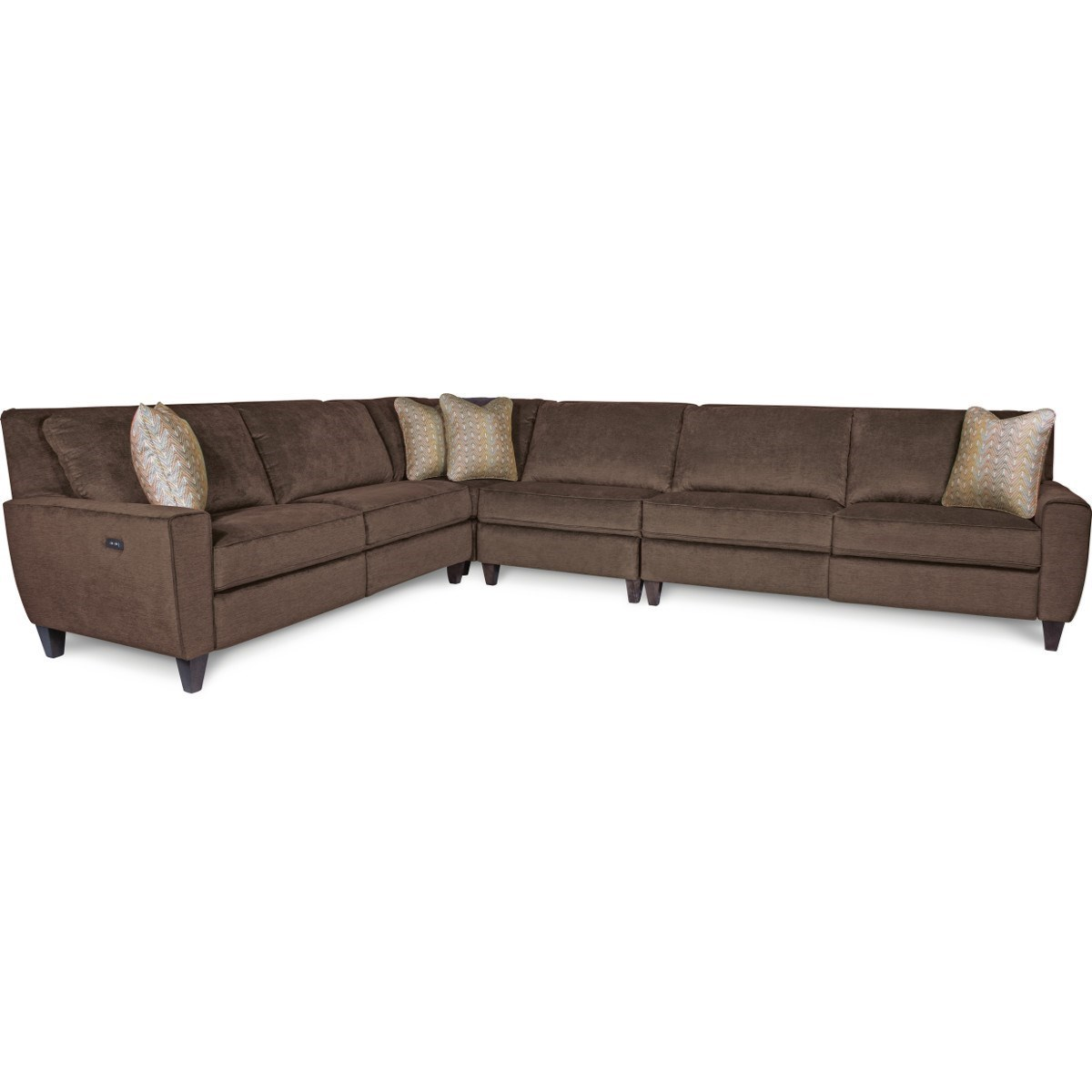 4 piece recliner sectional sofa portable chair la z boy edie four power reclining