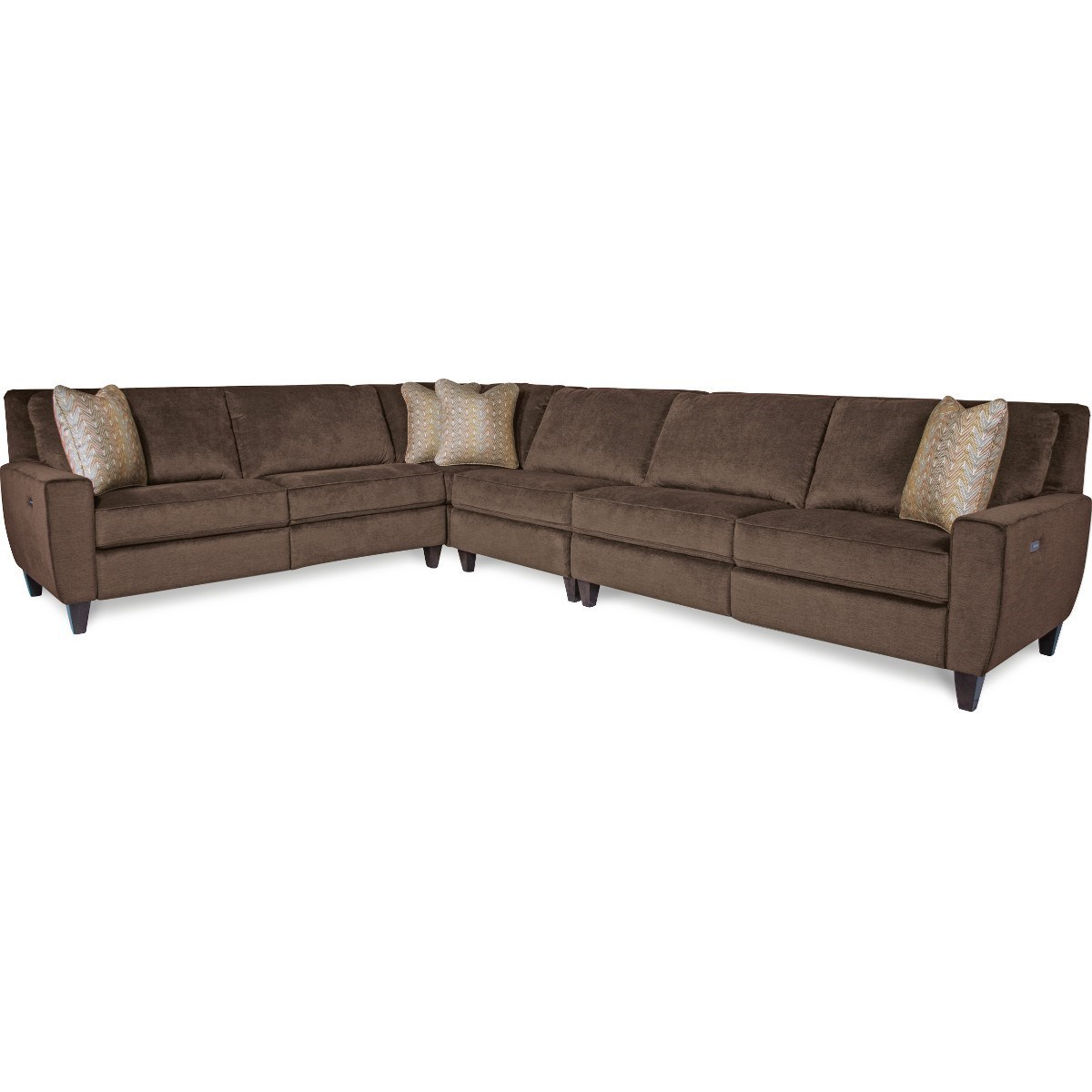 4 piece recliner sectional sofa cheers living room furniture la z boy edie four power reclining
