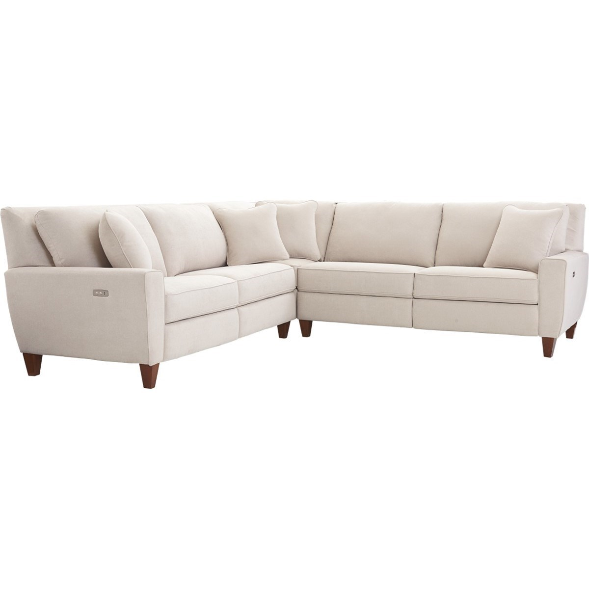 3 pc sectional sofa with recliners small black and white corner la z boy edie three piece power reclining