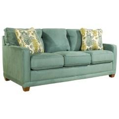 Comfortable Queen Sleeper Sofa Beach Print La Z Boy Kennedy Transitional Supreme Comfort Sleep