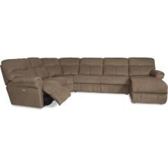 4 Piece Recliner Sectional Sofa Base Cushions La Z Boy Sheldon Casual Four Reclining