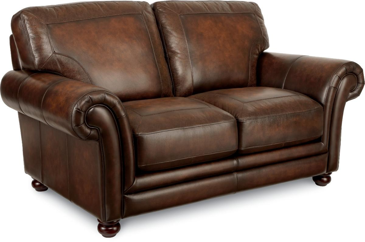 california sofa mfg custom cushions vancouver la z boy william traditional loveseat with exposed wood