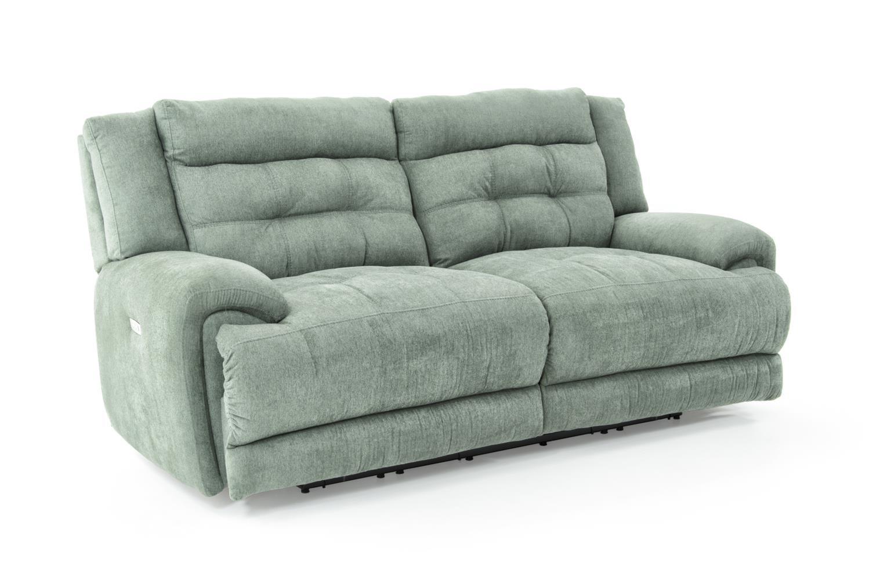 lane dual power reclining sofa mattress topper bed corsica 235 59p seafoam powerized double