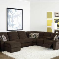 4 Piece Recliner Sectional Sofa Grey And White Bed Lane Grand Torino Casual Four W Laf