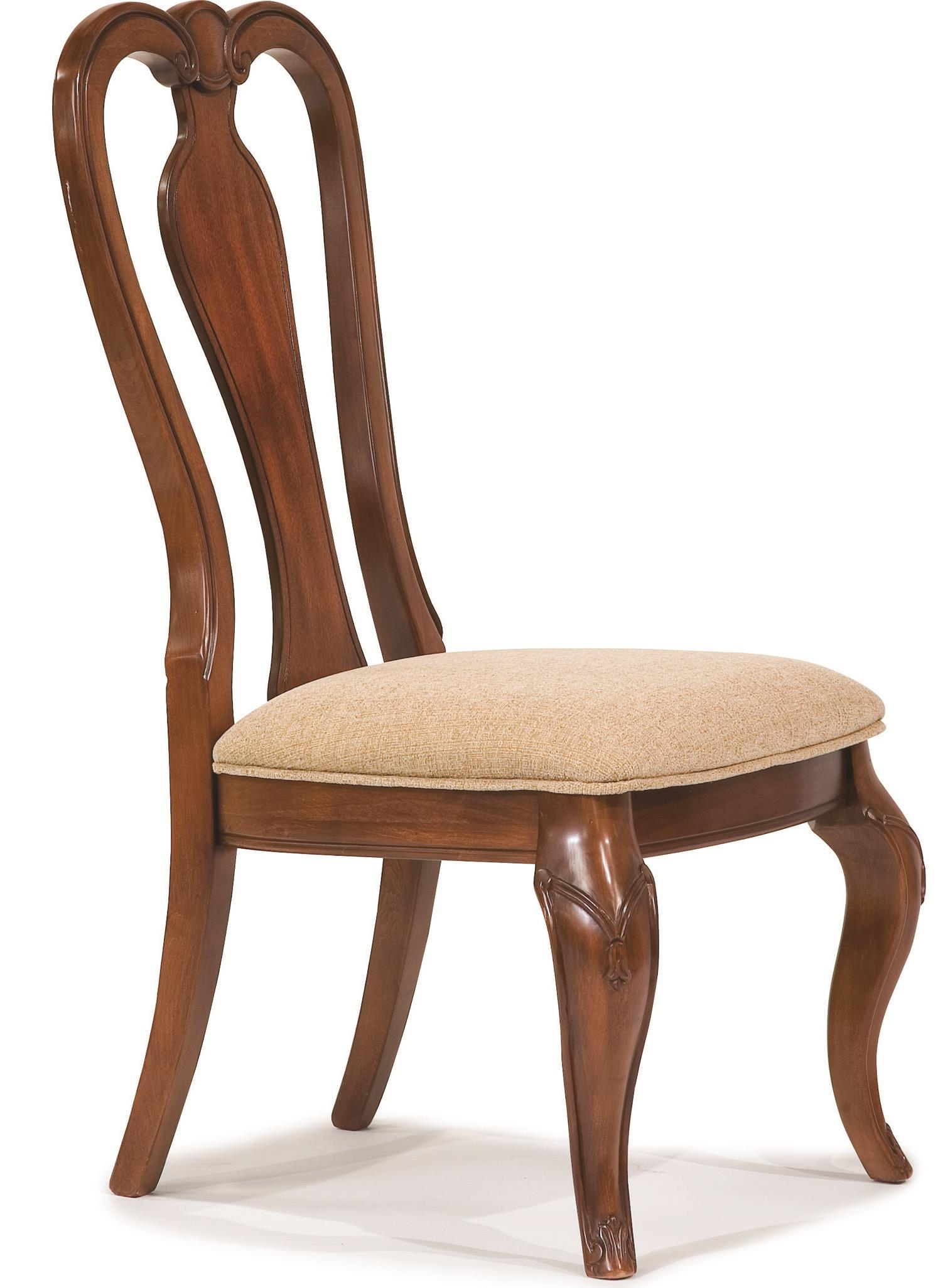 Queen Chairs Evolution Queen Anne Side Chair With Upholstered Seat By